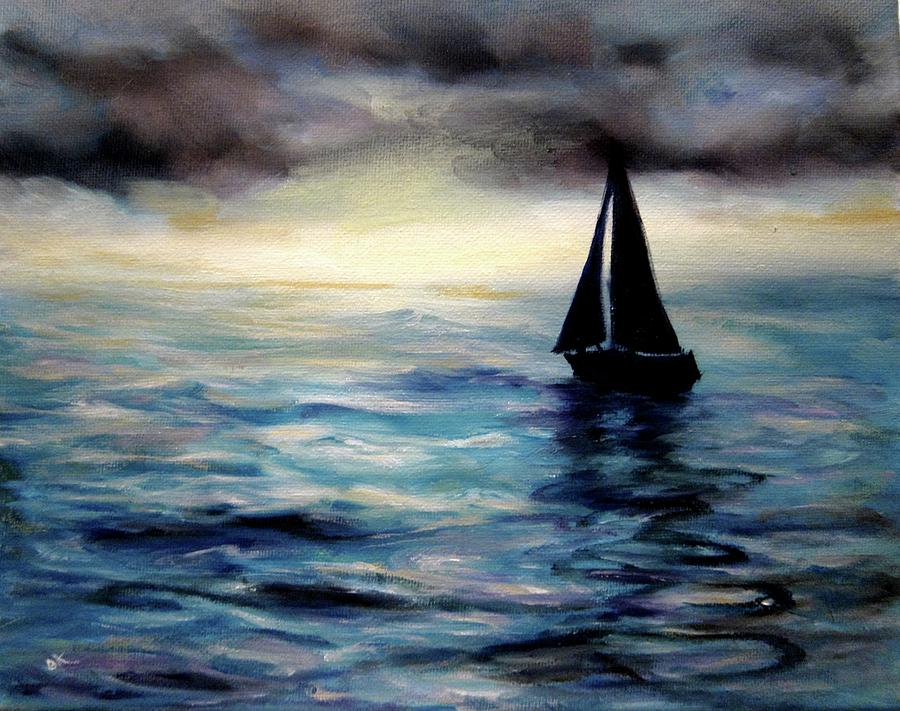 Sailing Painting - Unlimited Horizons by Diane Kraudelt
