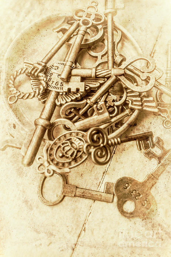 Antique Photograph - Unlocking The Past by Jorgo Photography - Wall Art Gallery