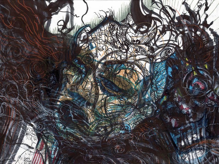 Expressionism Drawing - Unmasqued by Eddie Rifkind