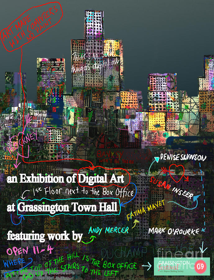 Grassington Digital Art - Unofficial Grassington Festival Poster by Andy  Mercer