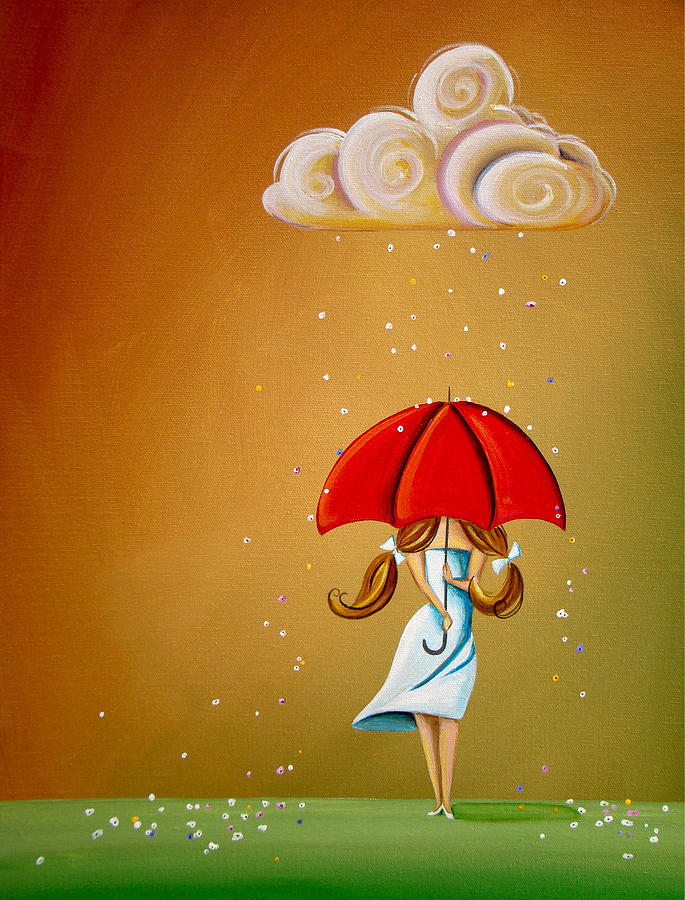 Girl Painting - Unpredictable by Cindy Thornton