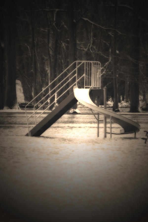 Flood Photograph - Unsafe by Cathy Beharriell