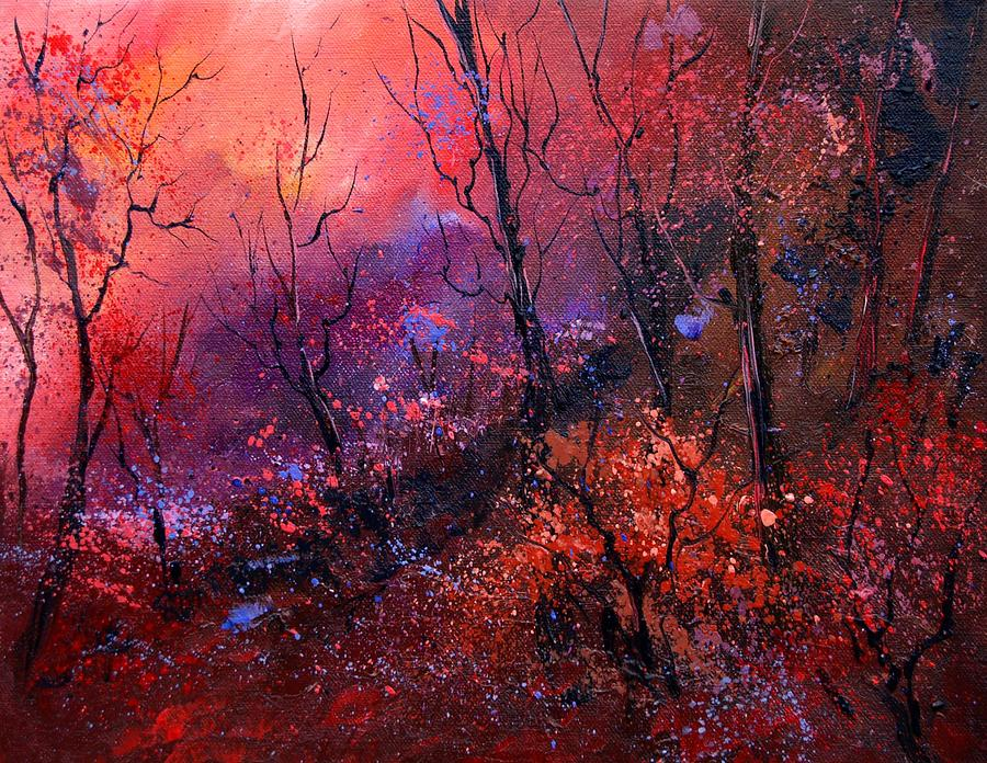 Unset In The Wood Painting by Pol Ledent