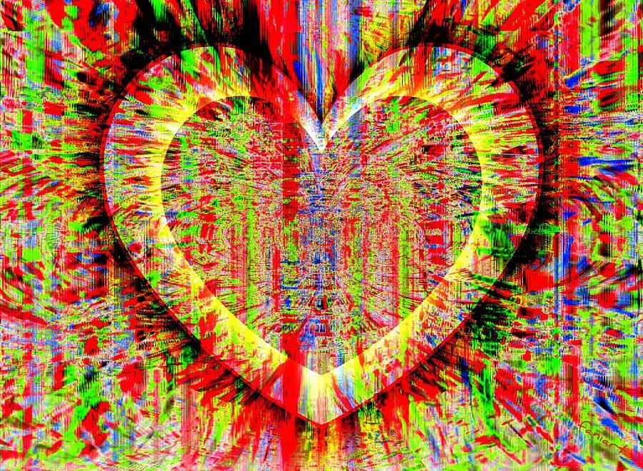 Fania Simon Painting - Unsettled Heart by Fania Simon