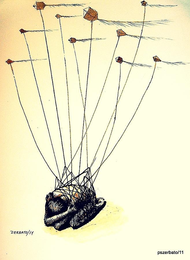 Unsuccessful Attempt To Raise High Flights Mixed Media - Unsuccessful Attempt To Raise High Flights by Paulo Zerbato