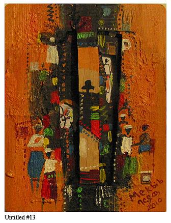 Africanism Mixed Media - Untitled 13 by Mekbib Geberstadik