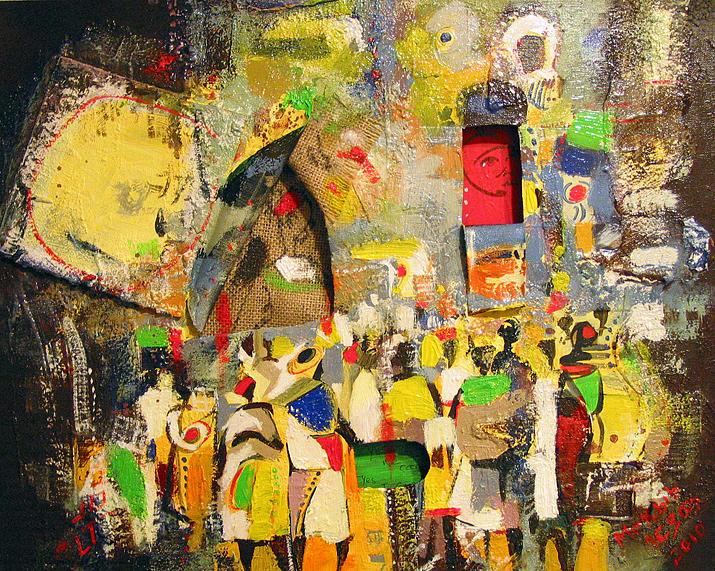 Untitled 15 Mixed Media by Mekbib Geberstadik