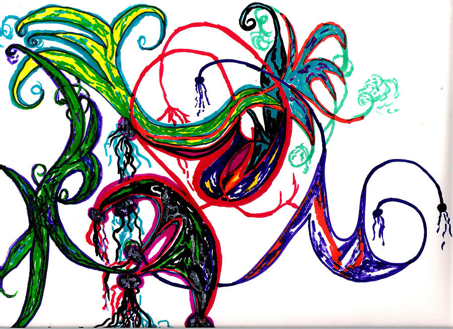 Abstract Drawing - Untitled 2 by Cynthia Sepcie