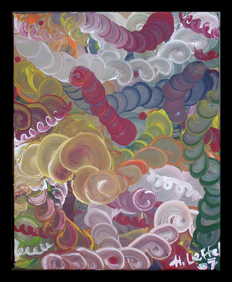 Colorful Painting - Untitled 2 by Hollie Leffel