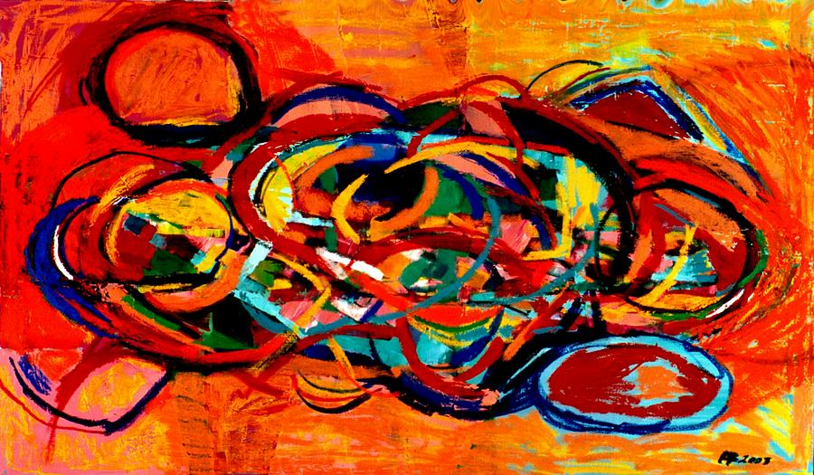 Abstract Painting - Untitled 2 by Paul Freidin