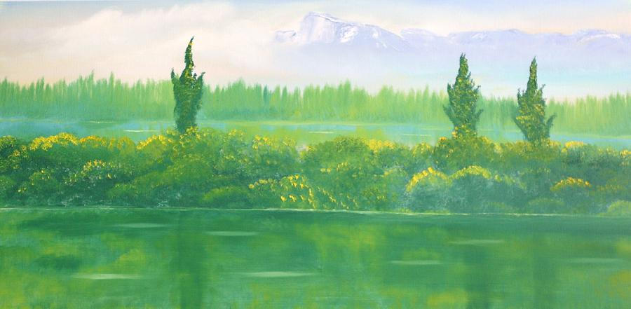 Landscape Painting - Untitled 229 by David Snider