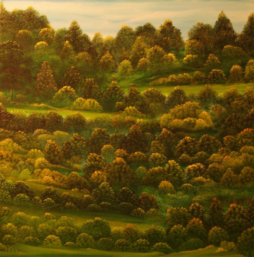 Landscape Painting - Untitled 33 by David Snider