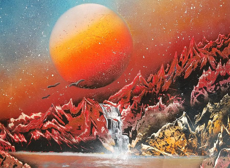 Planet Painting - Untitled 7 by Ryan Bennitt
