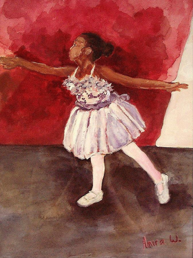 Ballet Painting - Untitled by Amira Najah Whitfield