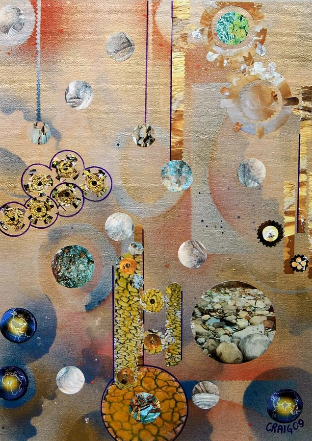 Abstract Collage Mixed Media - Untitled by Bob Craig