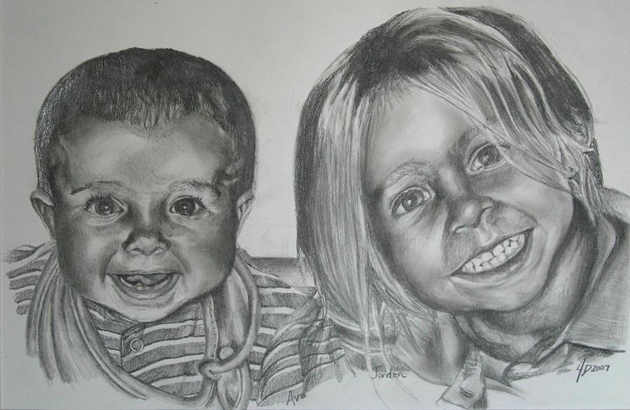 Portrait Drawing - Untitled by Darcie Duranceau