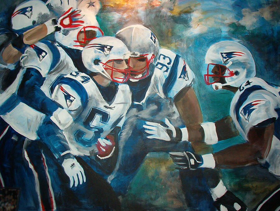 Football Painting - Untitled by Elisa Davis