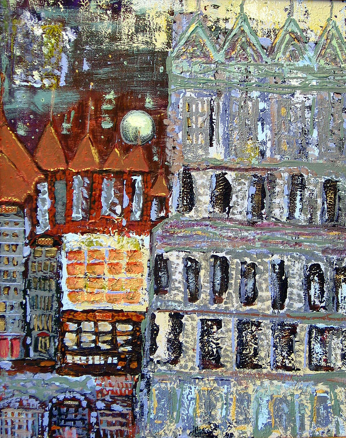 City Painting - Untitled by  Gaye Heidinger