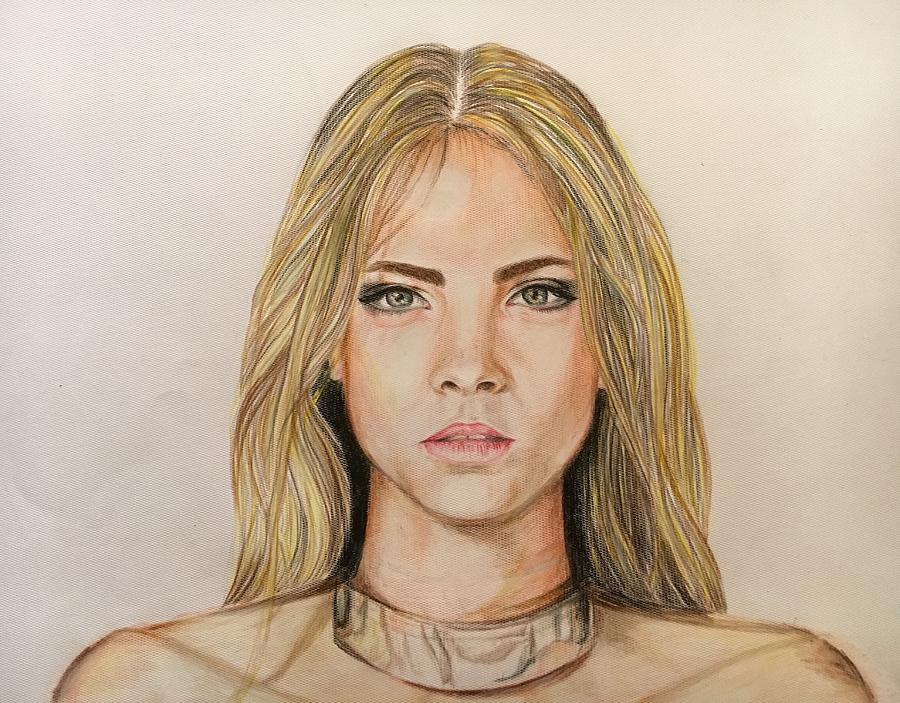 Portrait Drawing - Untitled by Hadiqa Aamir