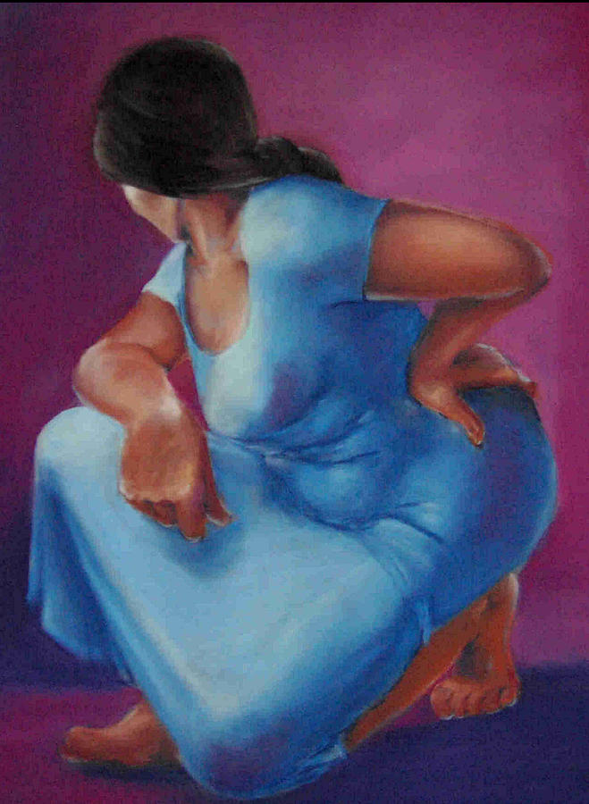 Figurative Painting - Untitled by Janet Checker