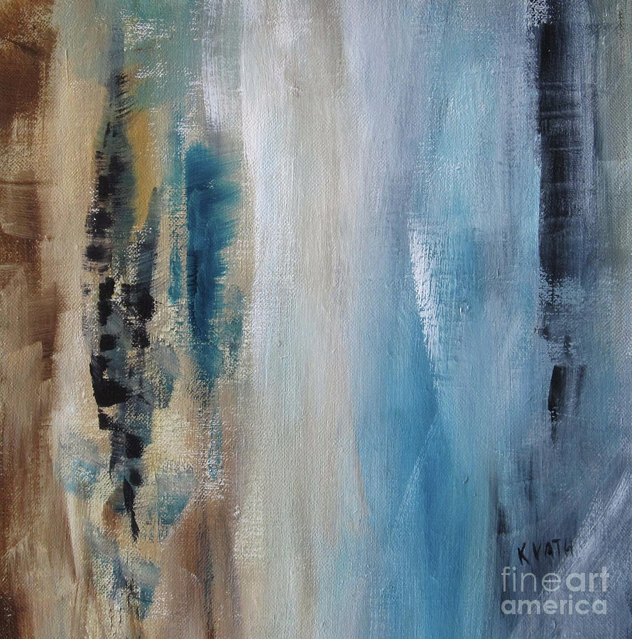 Abstract Painting - Blue Breeze by Karen Day-Vath