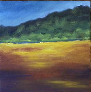 Blue Sky Painting - Untitled by Kelly Hutchinson