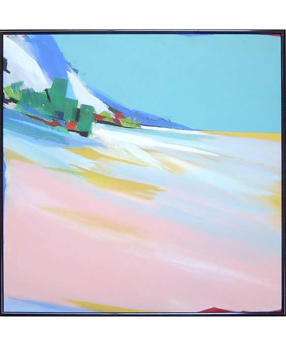 Abstract Landscape Painting - Untitled Landscape by Marston A Jaquis