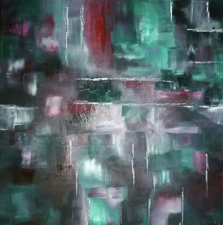 Abstract Painting - Untitled by Leigh Smith