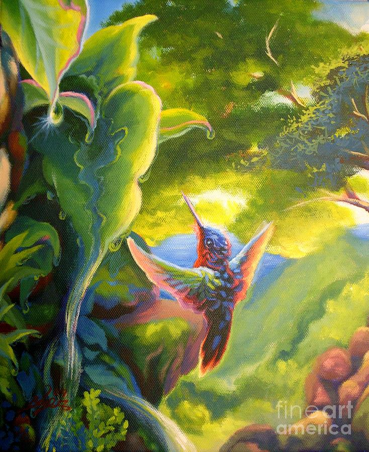 Humming Bird Painting - Untitled by Lowell Royer