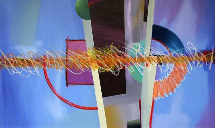 Abstract Painting - Untitled by Marston A Jaquis