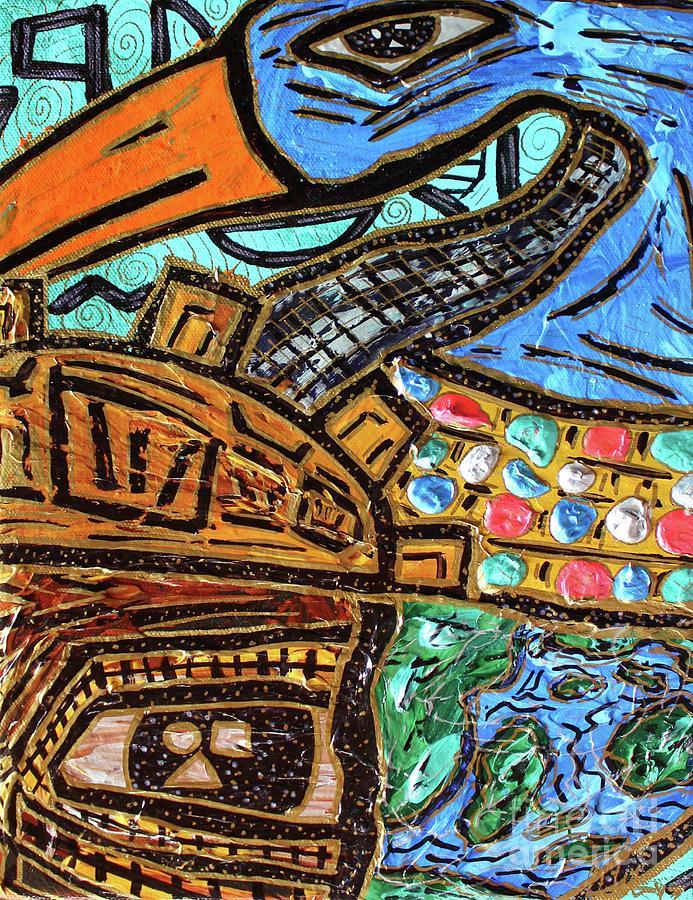 Untitled Olmec and Tehuti by Odalo Wasikhongo