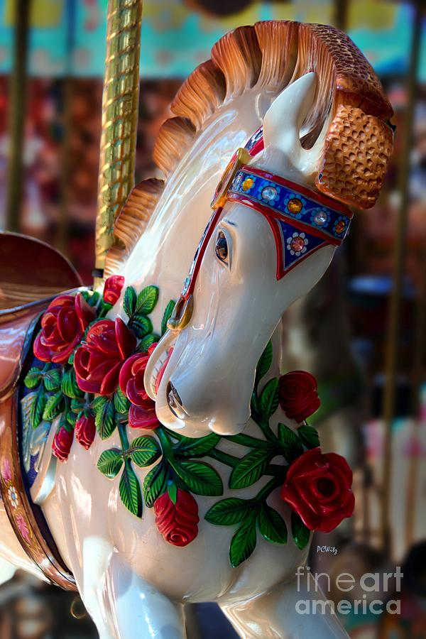 Colorful Photograph - Carousel Equine by Patrick Witz