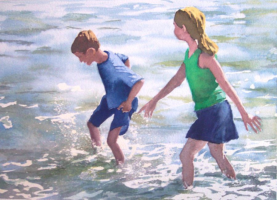 Children Painting - Untitled by Philip Fleischer