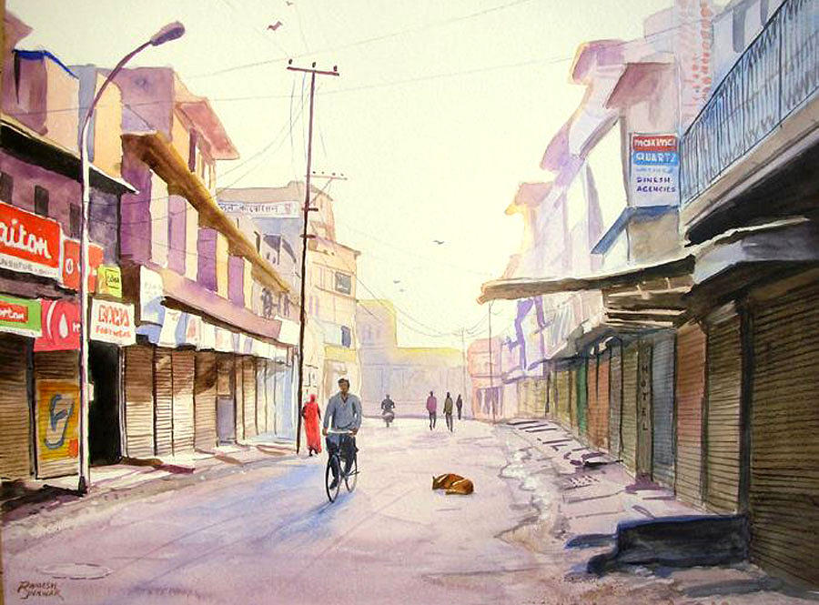 Untitled Painting by Ramesh Jhawar