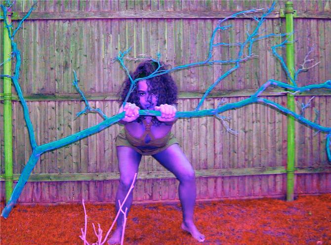 Woman Pyrography - Untitled- Sarah by Sarah Aponte