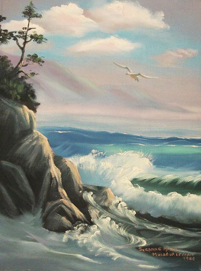 Seascape Painting - Untitled Seascape by Suzanne  Marie Leclair