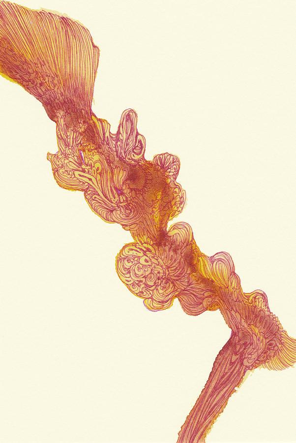 Dancer Drawing - Dancer - #ss14dw048 by Satomi Sugimoto