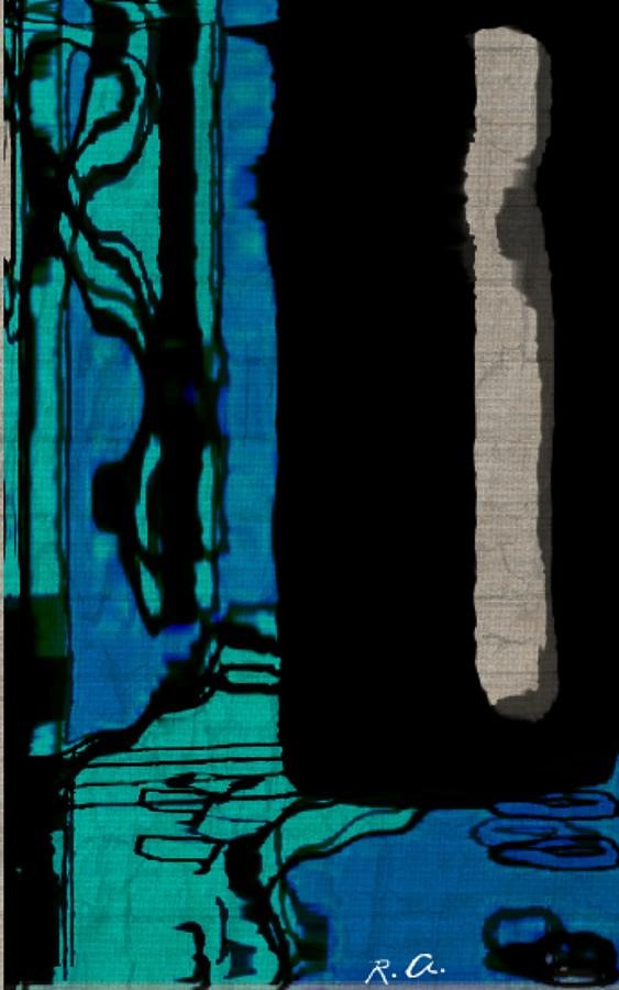 Blues Digital Art - Untitled Stand Still Of Life by Rene Avalos