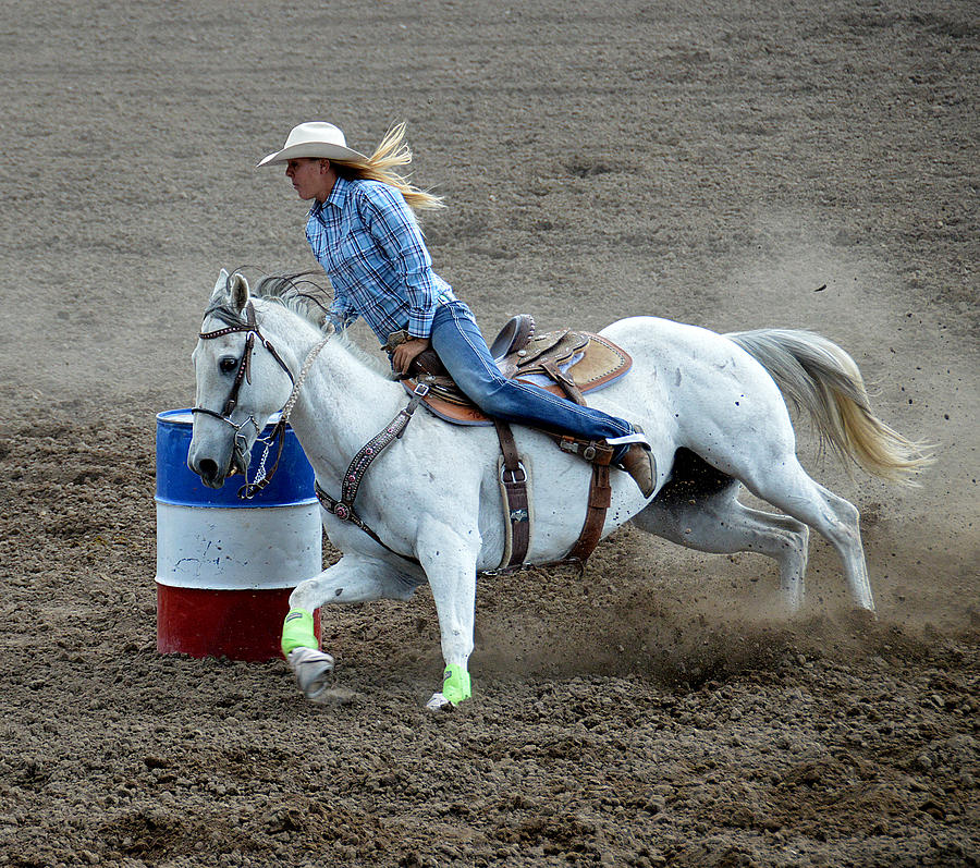 Horse Photograph - Barrel Racer Five by Fay Geddes