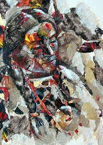 Portrait Painting - Untitled by Tina Siddiqui