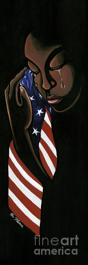 American Flag Painting - Untitled by Toni  Thorne