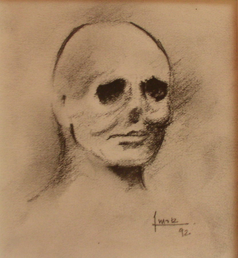 Face Drawing - Untitled by Victor Amor