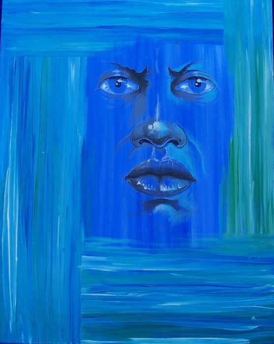 Blue Painting - Untitled by William Burton Jr