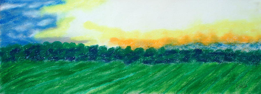 Landscape Painting - Untittled Landscape by Prasad Setty