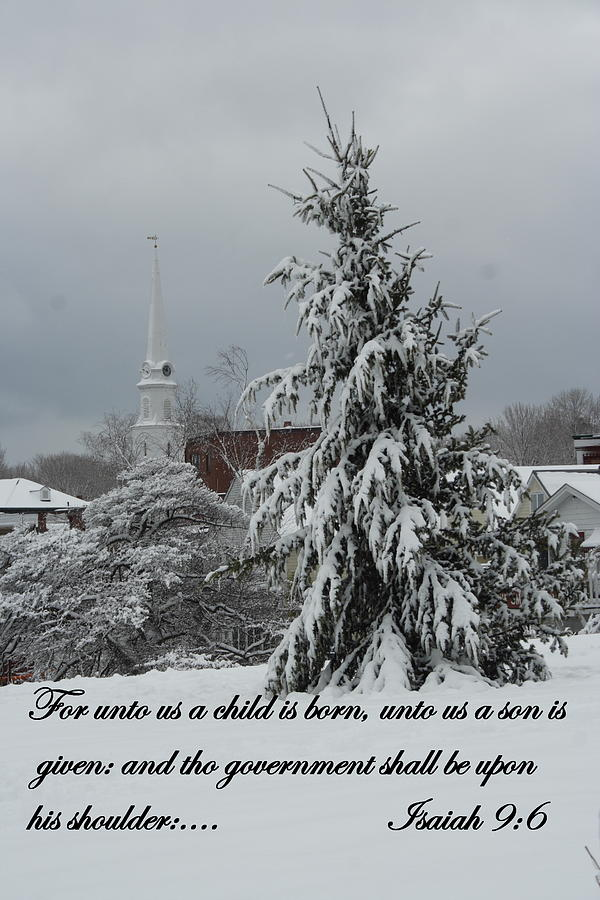 Christmas Photograph - Unto Us by Doug Mills