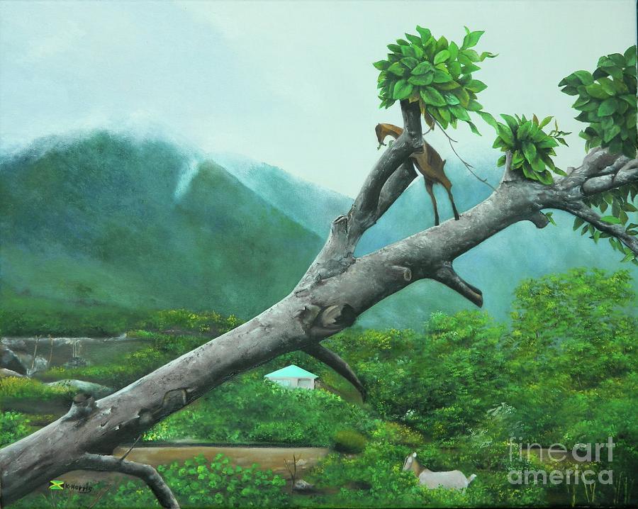 Unu Neva Si Goat Ina Tree by Kenneth Harris