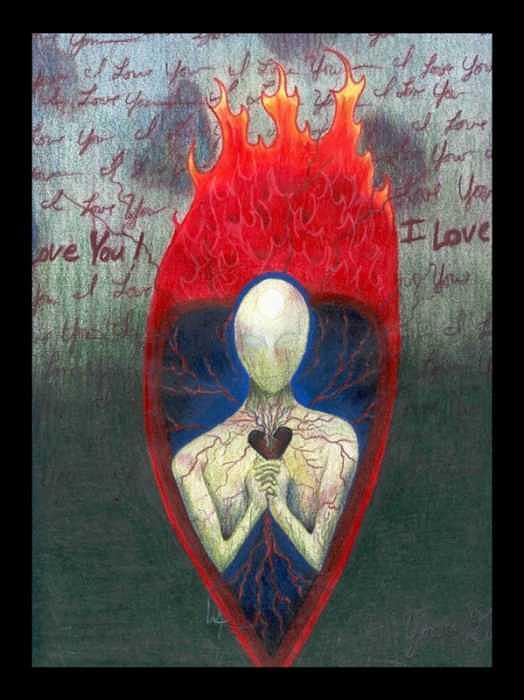 Emotive Drawing - Unwell by Lori Michelle Adams Hunter