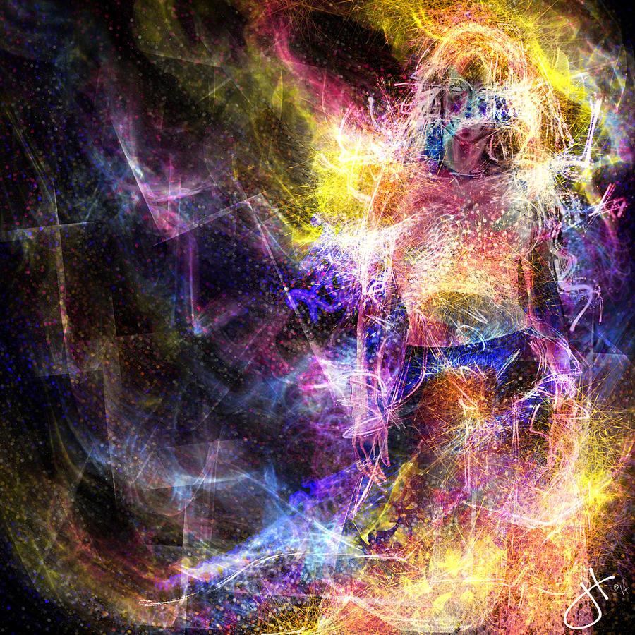 Celestial Digital Art - Up And Away by Jason Hanson
