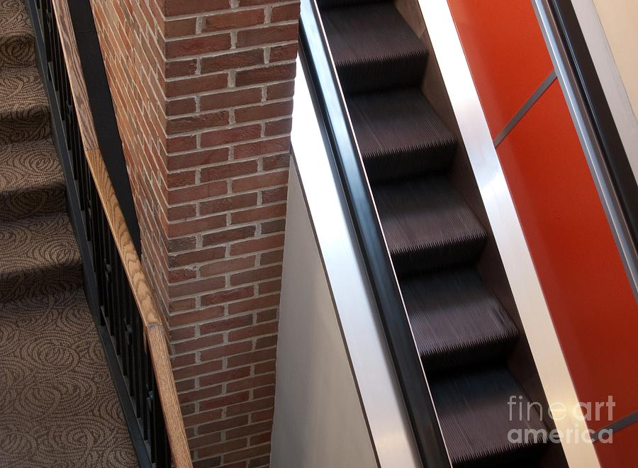 Escalator Photograph - Up And Down by Ann Horn