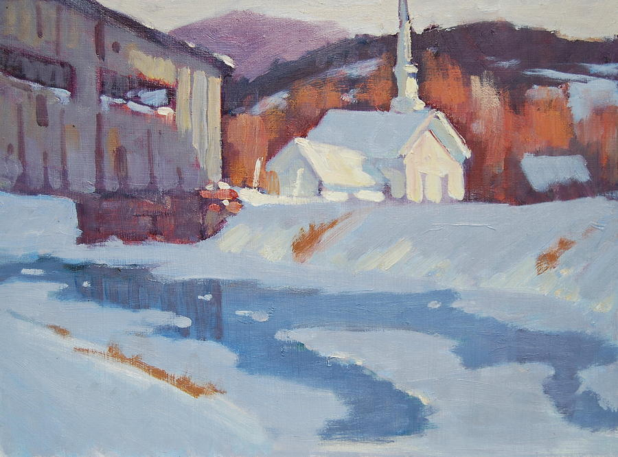 Green Mountains Of Vermont Artist. Green Hills Painters Painting - Up Arlington Way by Len Stomski